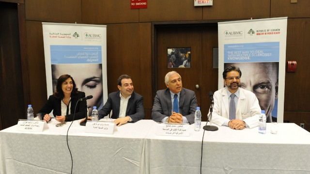 Dr Samia Khoury, Minister Wael Abou Faour, Dean Mohamad Sayegh,