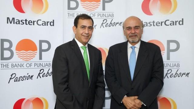 Raghu Malhotra, Division President, MENA - MasterCard and Naeemuddin Khan, President and CEO - Bank of Punjab