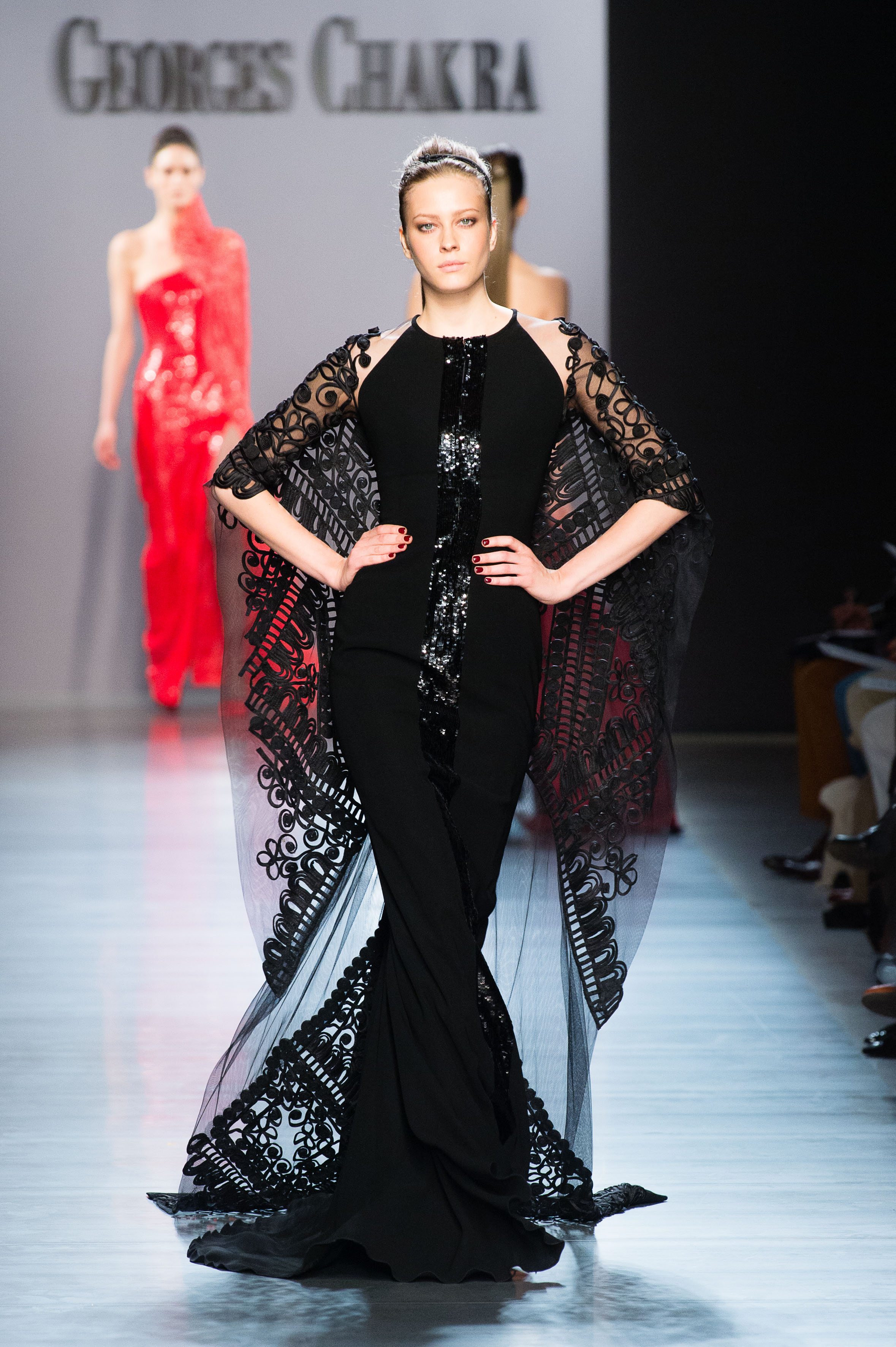Paris, July 2014 – The fall-winter 2014-2015 Couture show of Georges Chakra  was held on the 9th of July at the Palais de Tokyo during Paris Fashion week . 3f1099e0794