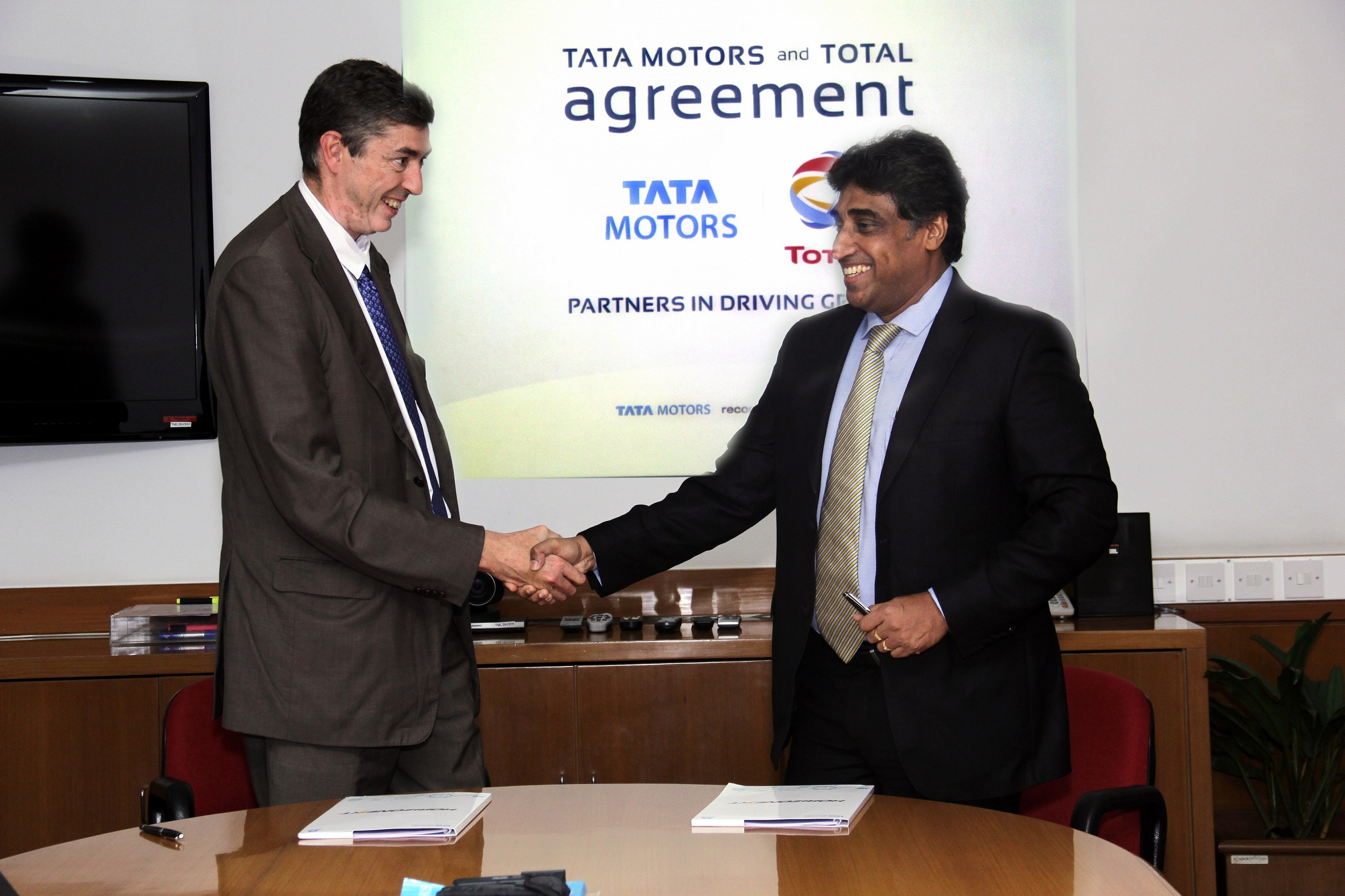 TATA Motors recommends TOTAL -  G.SHETTY and P.CHARLEUX