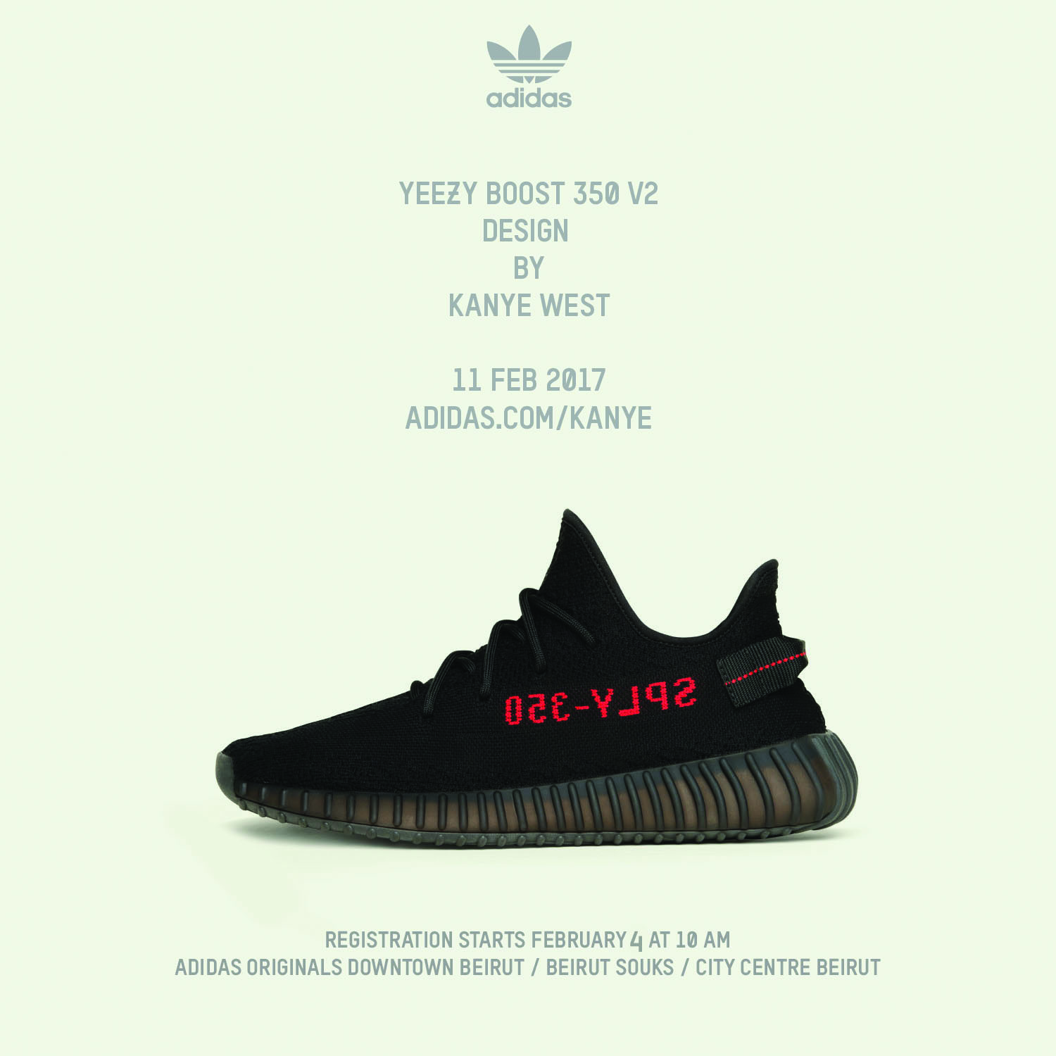 KANYE WEST and adidas announce the YEEZY BOOST 350 V2 Core Black / Red