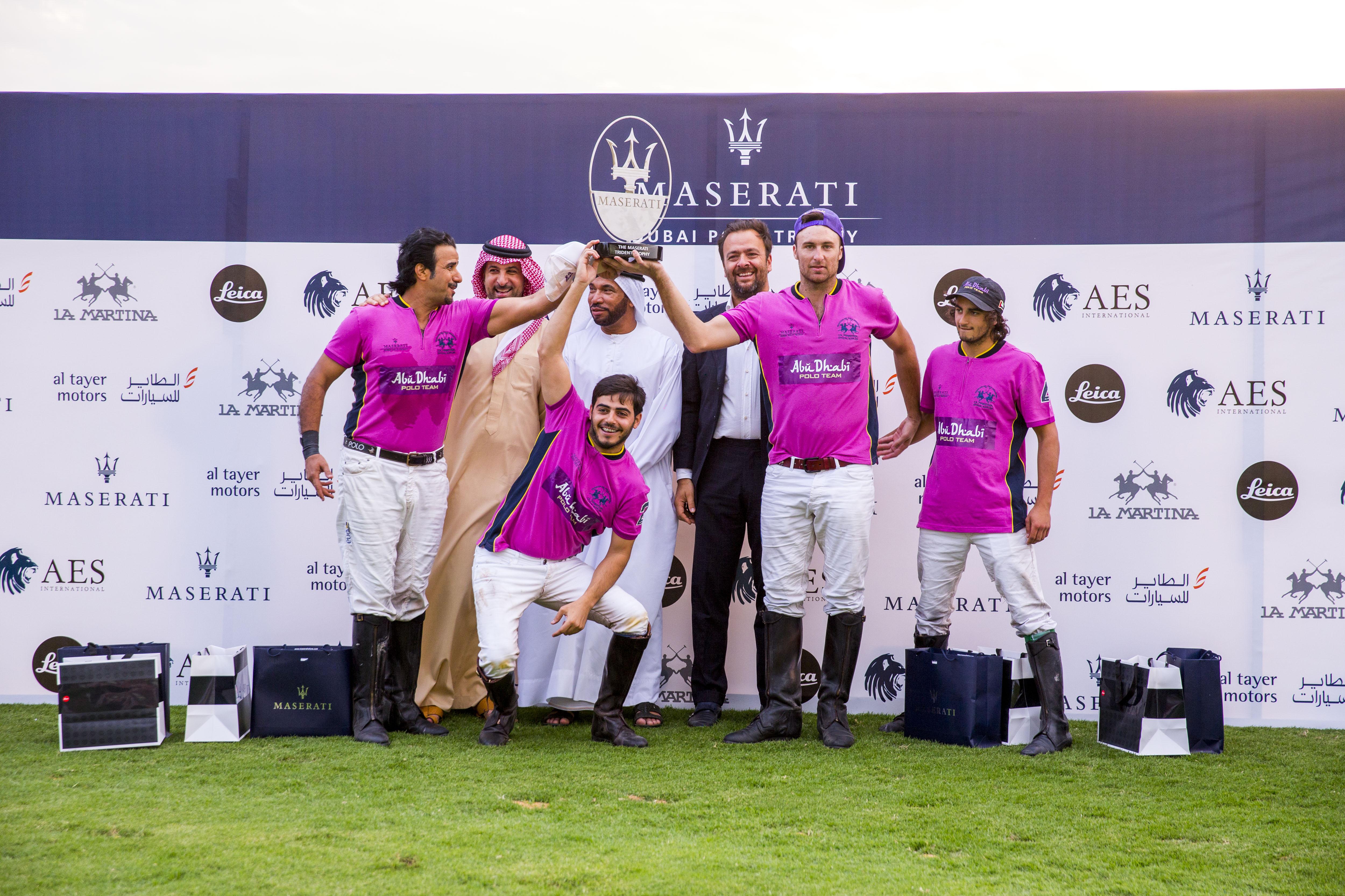 Abu Dhabi Team with Amr Zedan, Ali Albwadry and Umberto Cini Managing Director, Maserati Middle East, Africa and Asia (2)