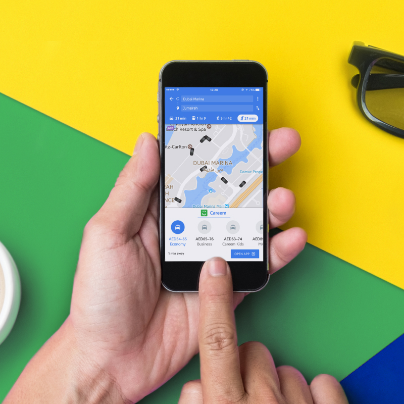 Go from directions to destinations as Careem announces integration Google Maps Directions Dubai on