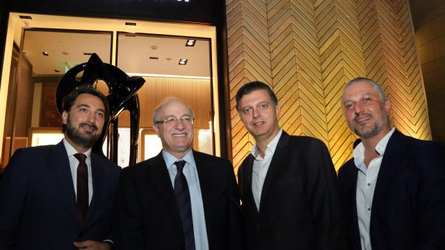 From left to right Gaby Bitarian Minister of Culture Dr. Ghattas Khoury, Mher Atamian & Barkev Atamian