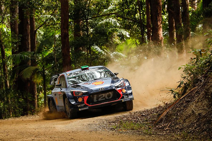 2017 FIA World Rally Championship Round 13, Rally Australia 16-19 November 2017 Hayden Paddon, Seb Marshall, Hyundai i20 Coupe WRC  Photographer: Austral Worldwide copyright: Hyundai Motorsport GmbH