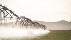 Irrigation on a connected farm