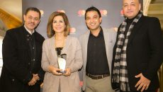 2018-04-05 Myrna Wehbe receiving Mastercard award