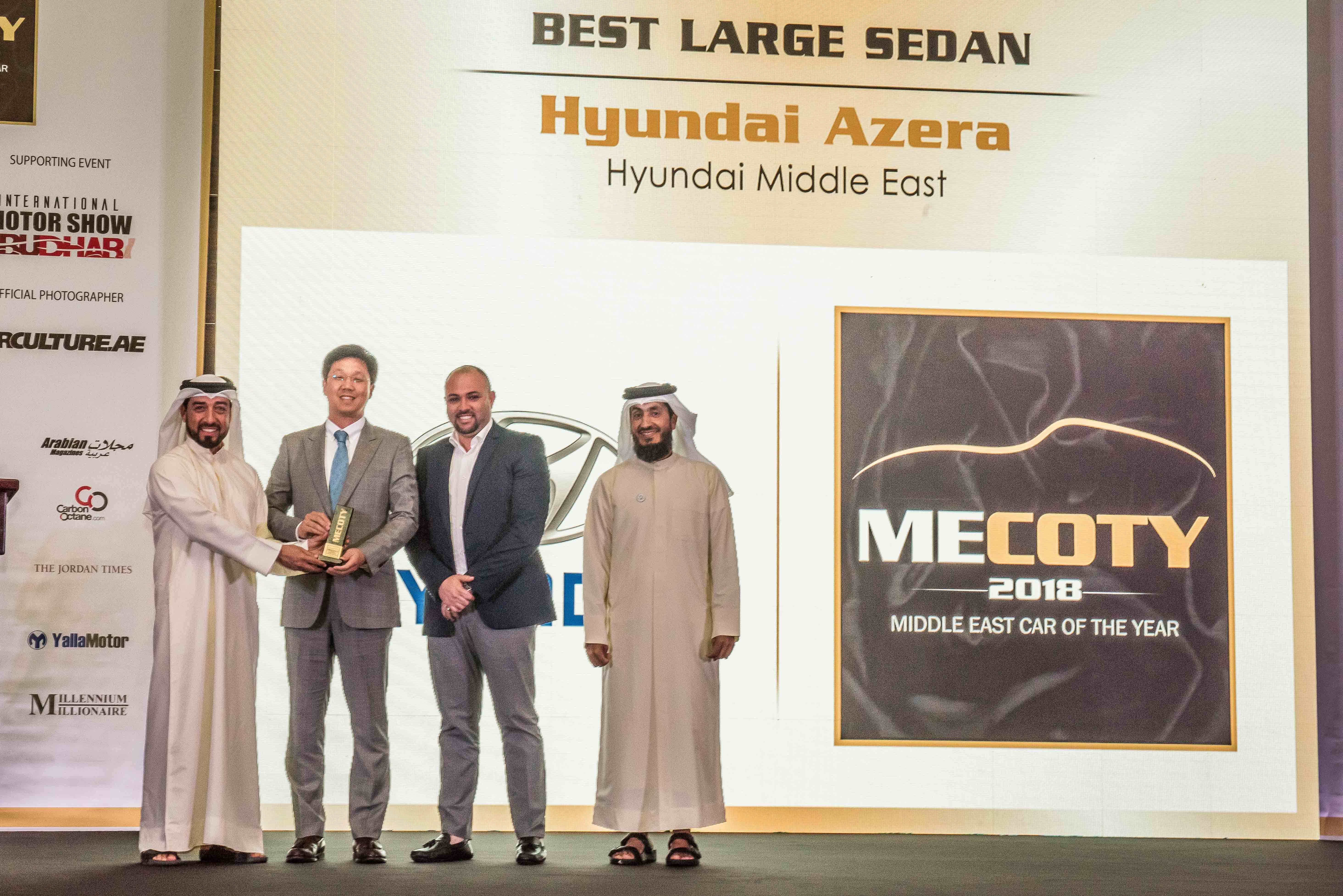 Hyundai Azera Is Best In Class At Middle East Car Of The Year Awards