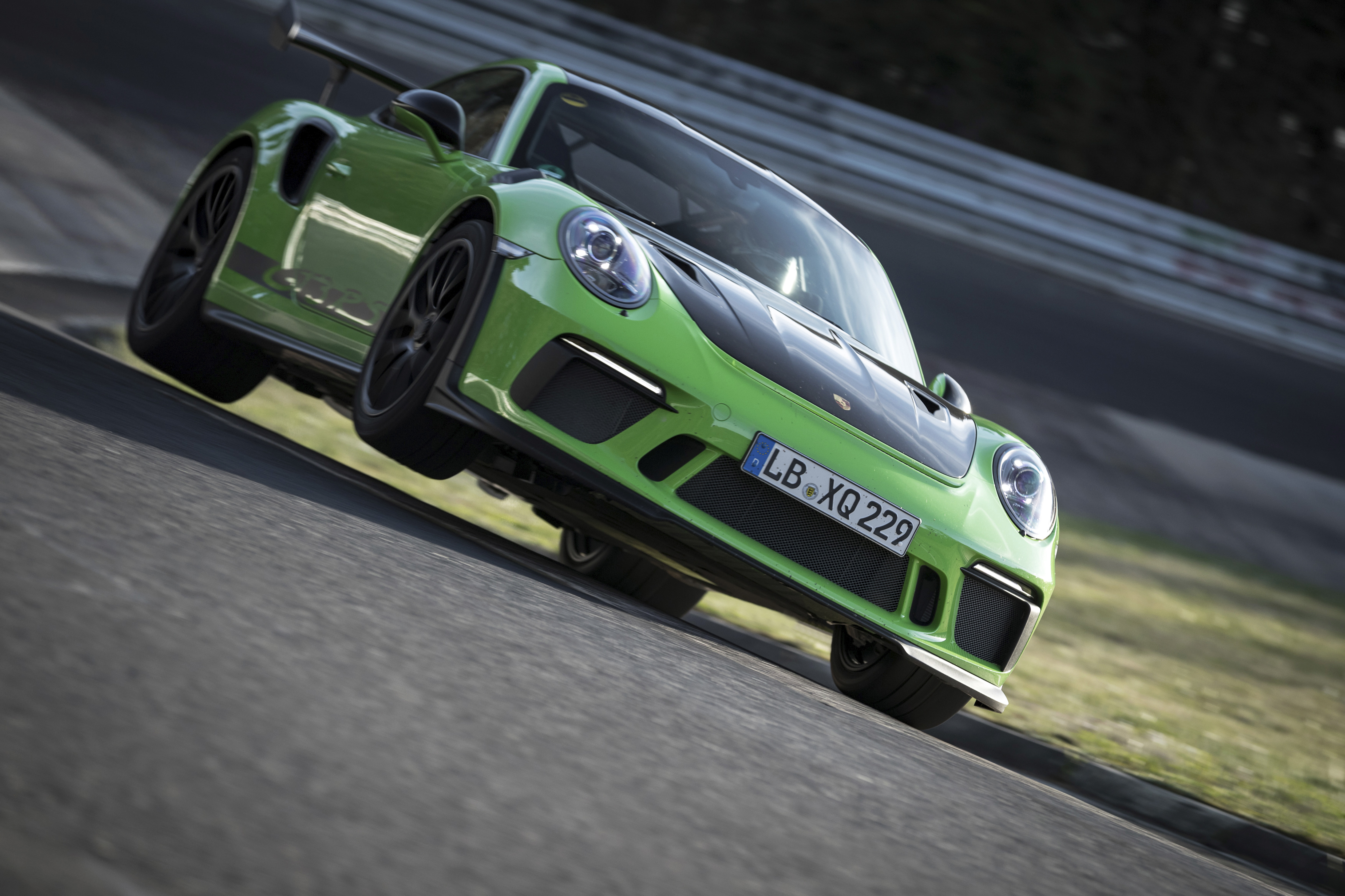 On April  The Porsche  Gt Rs Set Another Benchmark For Road Approved Sports Cars At The Nurburgring Nordschleife Circuit In Germany Porsche Works