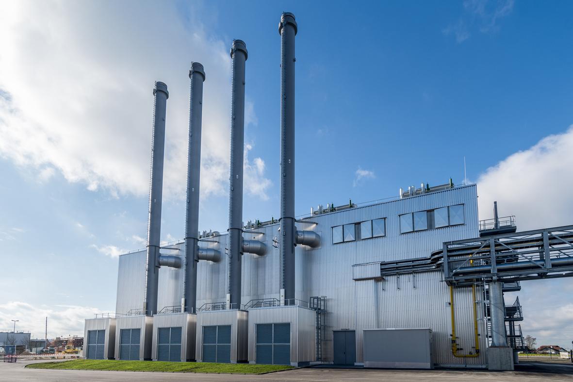 BMW Kraftwerk Dingolfing KWK, aufgenommen am 27.11.2017
