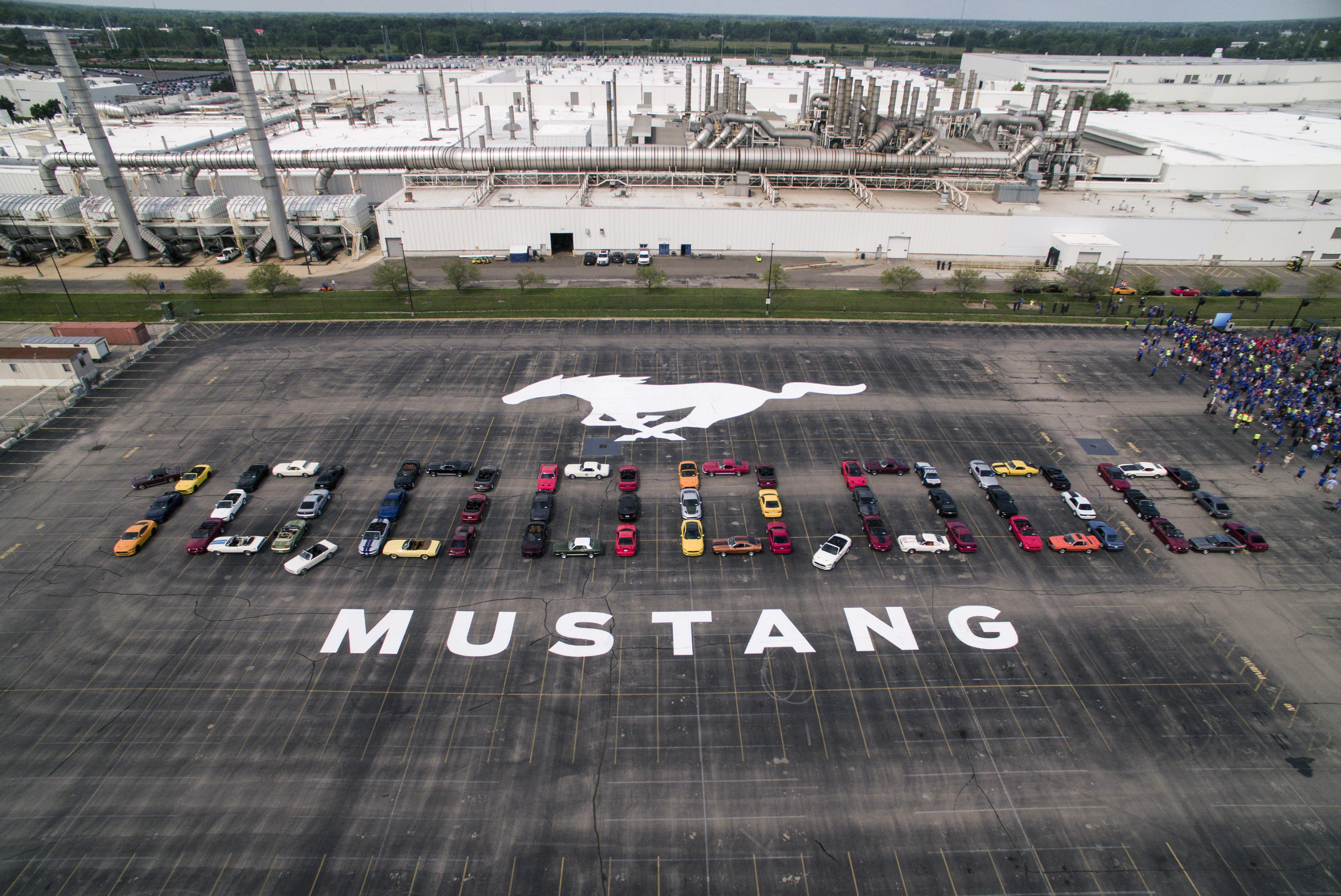 Middle East Favourite Ford Mustang Celebrates 10 Millionth Pony Mach 460 Sound System Formation At Flat Rock Assembly Plant In Mich