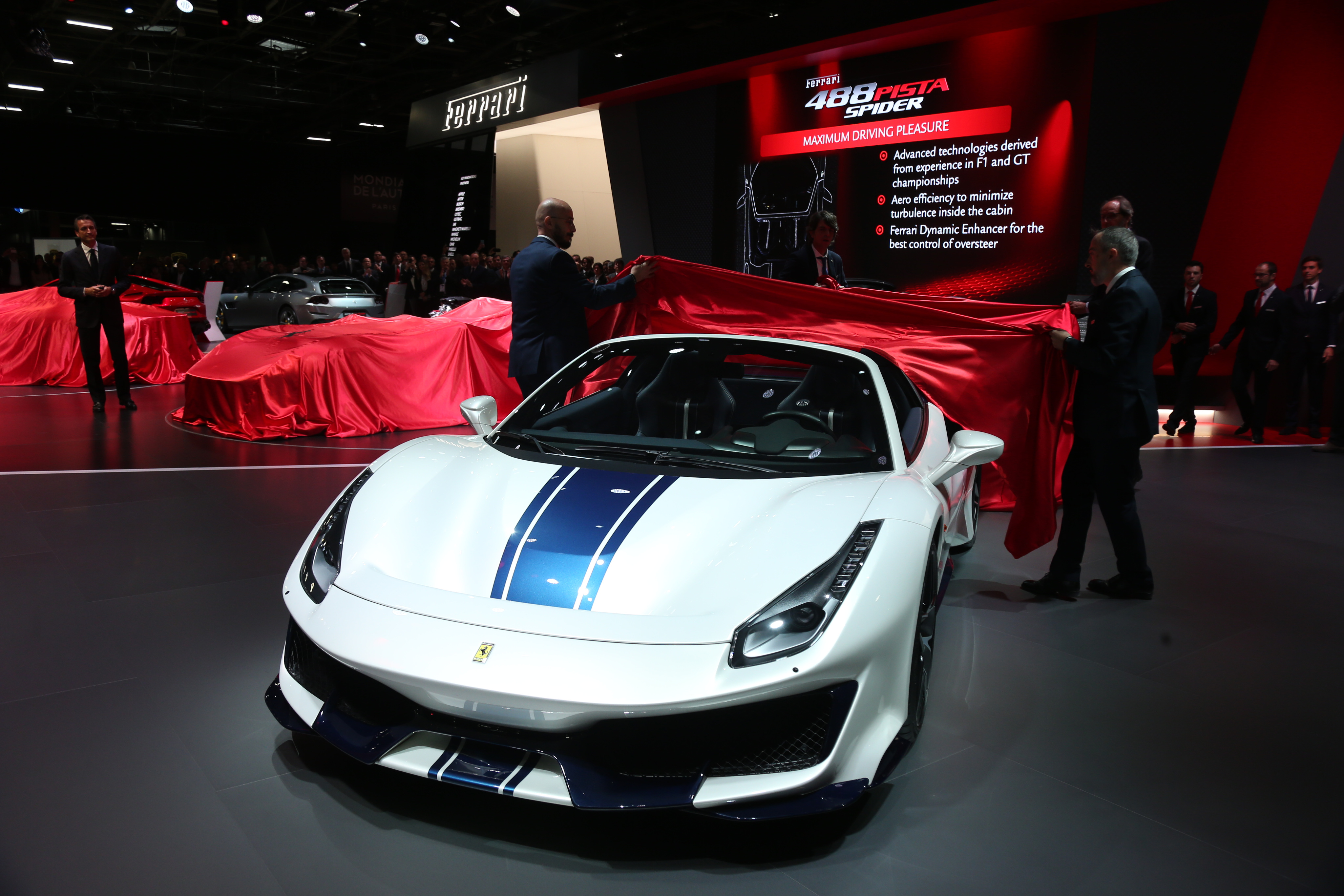 Meet The Ferrari 488 Pista Spider Highest Performance Prancing Diagram Of Downforce Generated By Raked Underbody Motor Show
