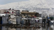 LEBANON/BEKAA. Friday, January 11. Syrian refugees camps in Bekaa, East Lebanon close to the Lebanese-Syrian borders. UNICEF and its partners are mobilizing their resources to support refugees affected by the cold and water floodings caused by the storm that hit Lebanon starting January 6, 2019.
