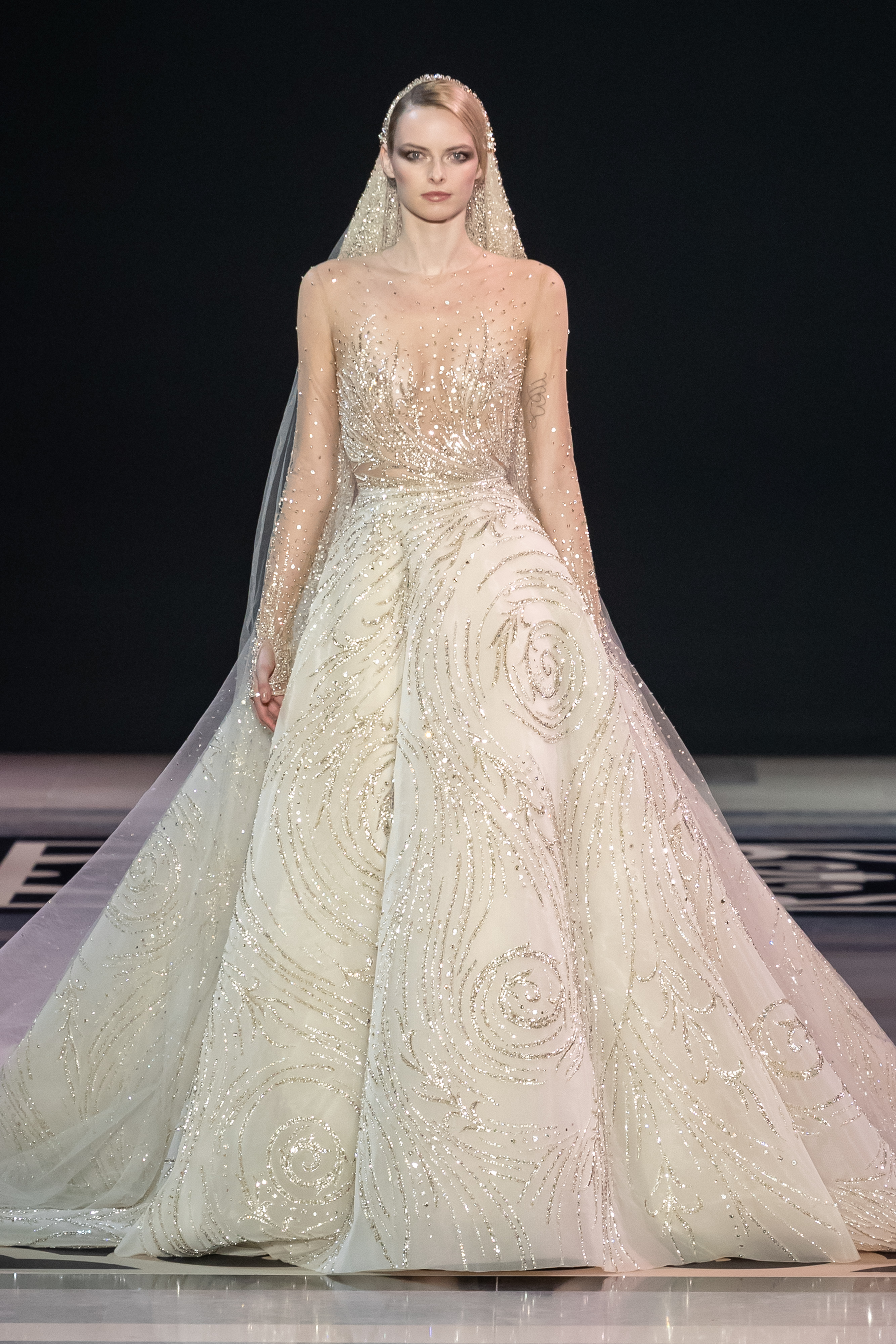 9bb78788924 Georges Hobeika Fashion show in Paris Couture Collection Spring Summer 2019.  The Bride ...